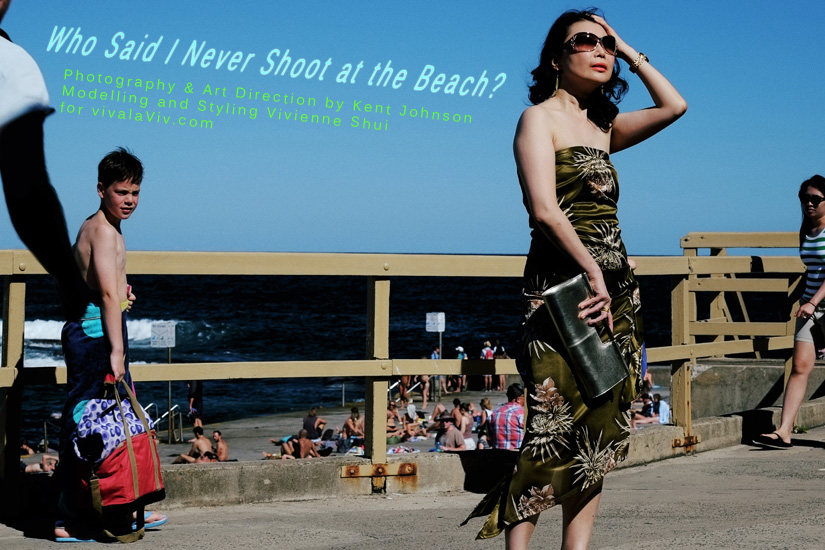 Who said I never shoot at the beach? High Fashion at Clovelly Beach by Kent Johnson and Vivienne Shui.