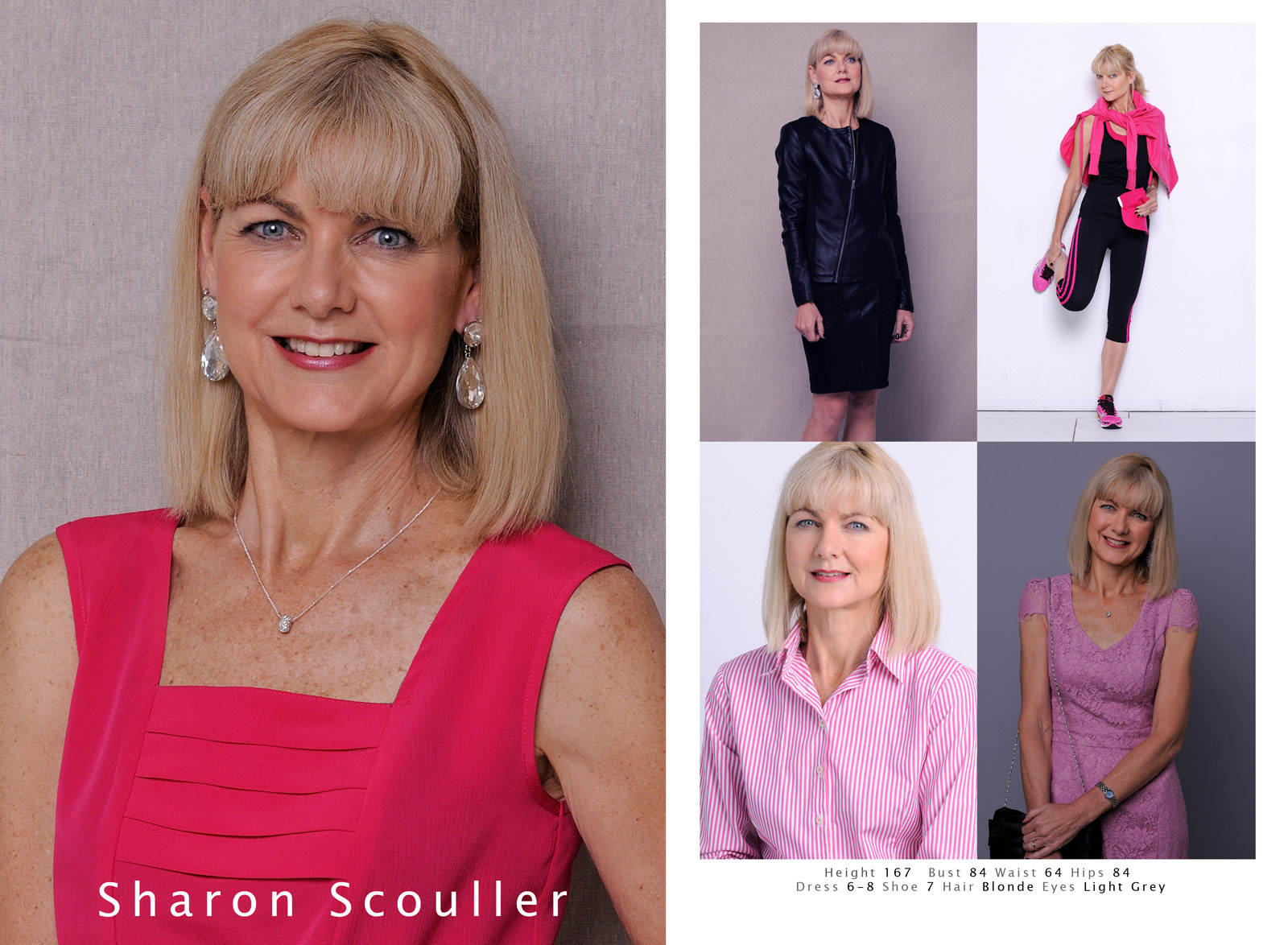 Comp Card, senior model. Modelling Portfolio headshots for Fashion, Fitness, Beauty for womwn and men.